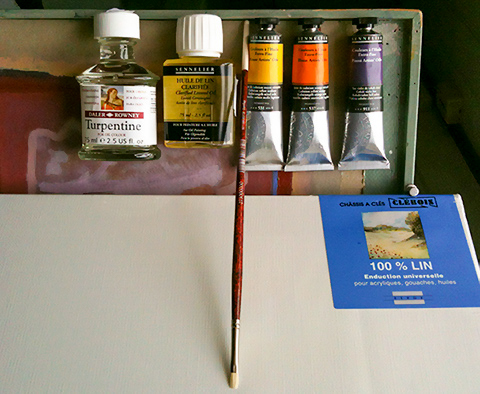 ARtists' oil painting materials